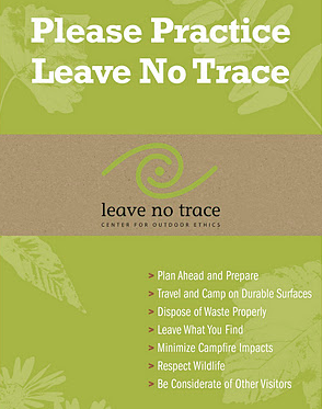Please Practice Leave No Trace