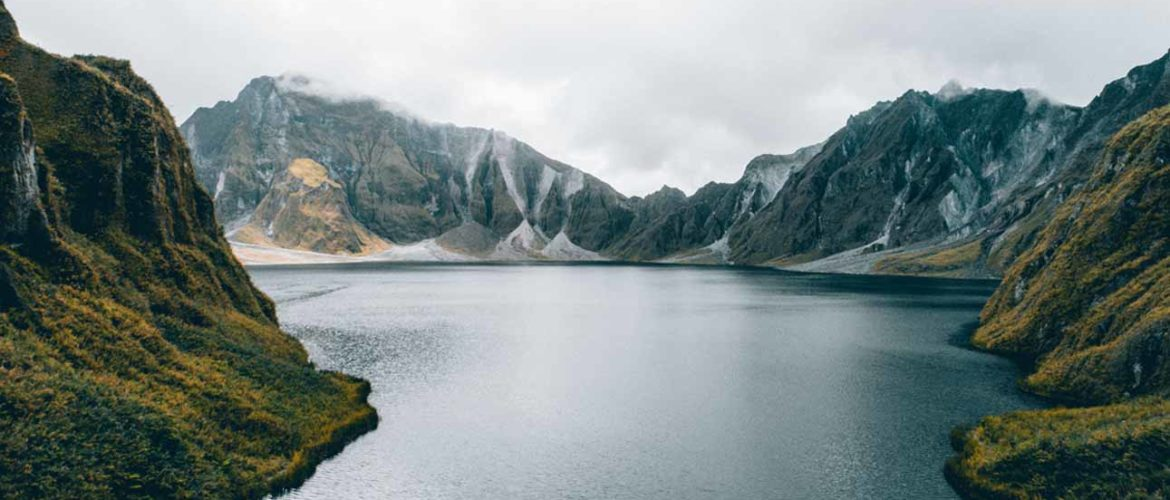 Fjord surrouned by mountains