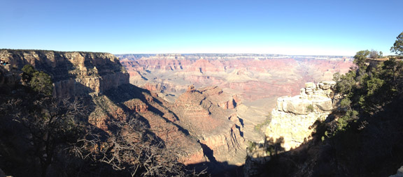 Grand Canyon View From Bright Angel Trailhead