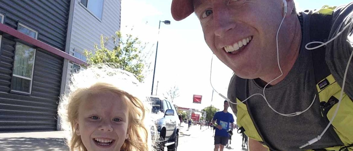 Father Running With Daughter