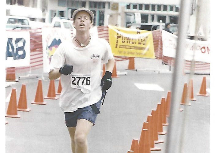 Steve Lemig Finishes 1993 Pikes Peak Marathon