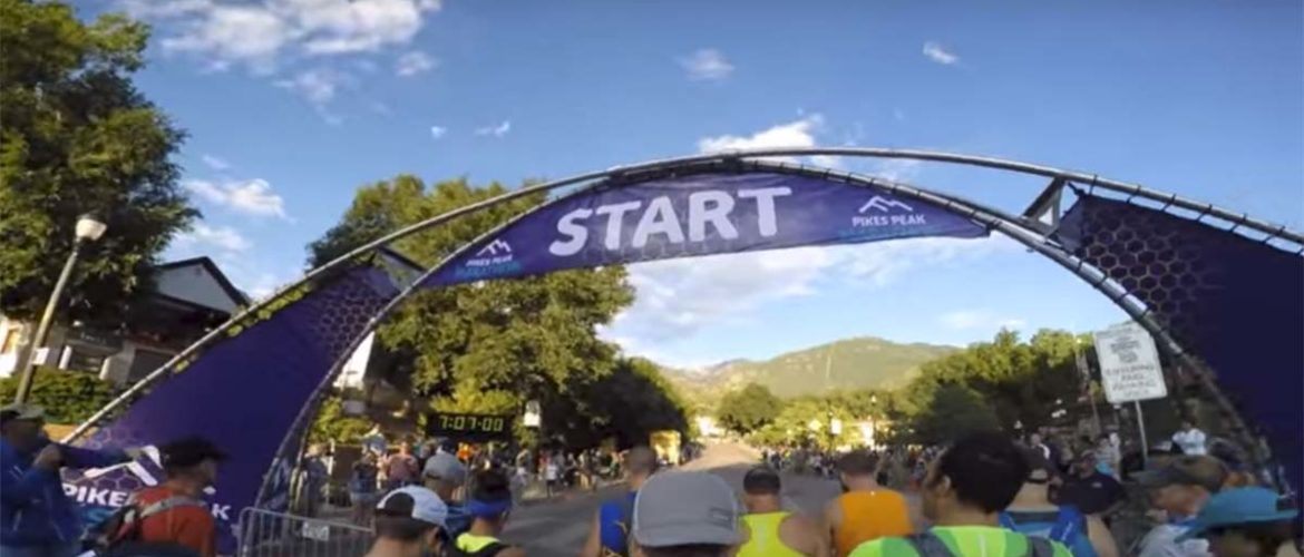 Starting Line of 2015 Pikes Peak Marathon