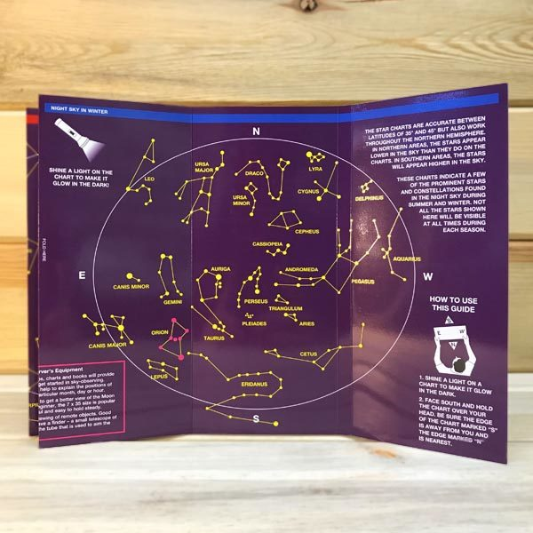 Wilderdad Night Sky Pocket Guide inside