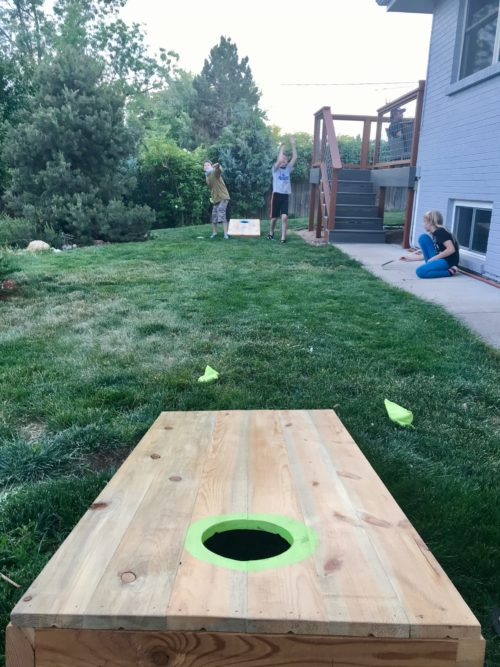 cornhole game for kids