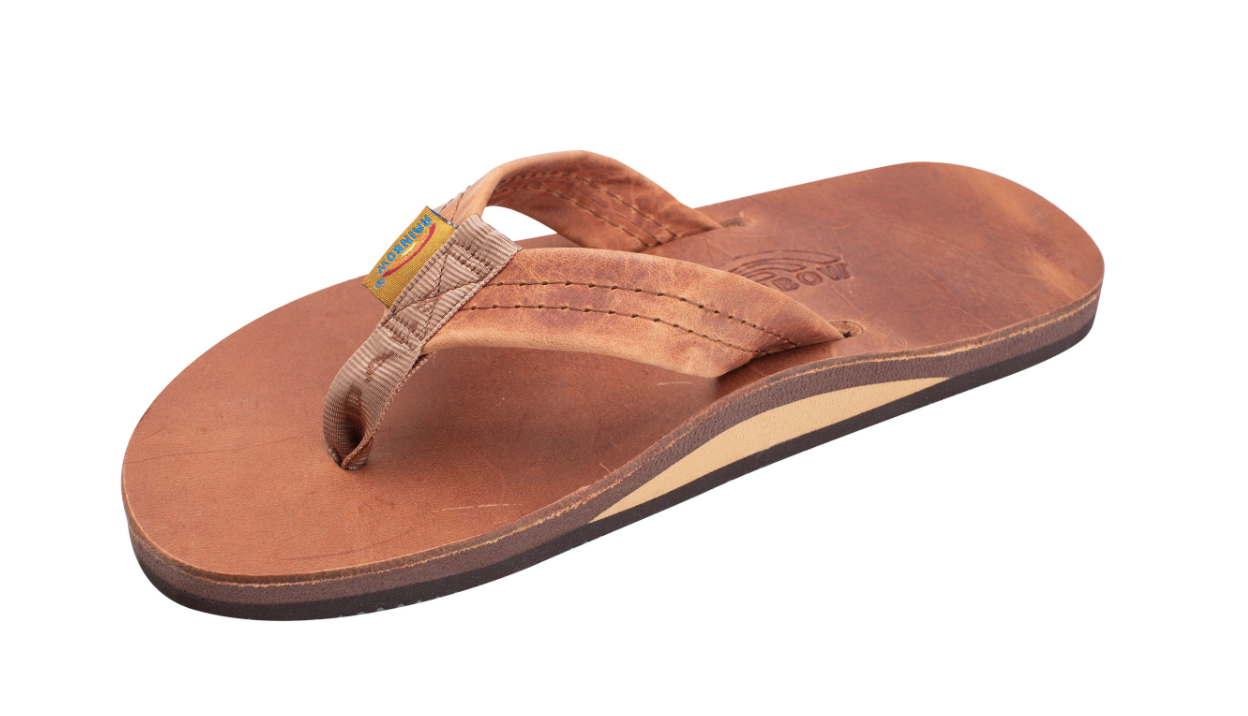Rainbow sandals are the original dad gift.